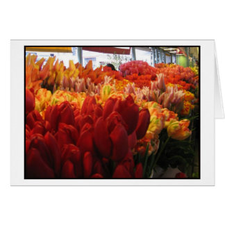 Tulips at Pike Place Public Market, Seattle Card
