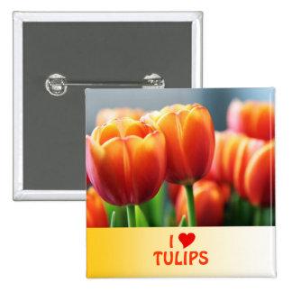 Tulips 15 Cm Square Badge