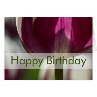 Tulips Birthday Card Geburtstagskarte Tulpen