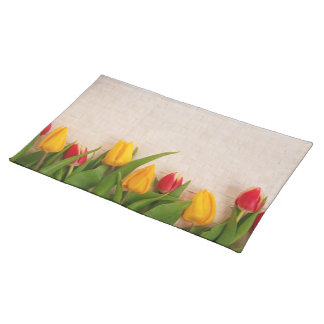 Tulips Blossoms Spring Personalize Placemat