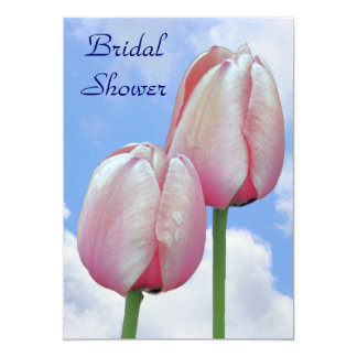 Tulips Blue Sky Bridal Wedding Shower Invitation