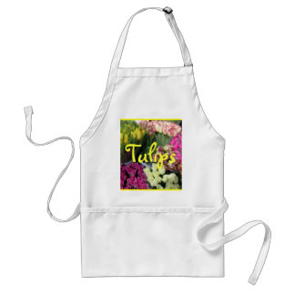 """Tulips Bouquets"" Smock Adult Apron"