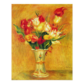 Tulips by Pierre Renoir, Vintage Impressionism Art