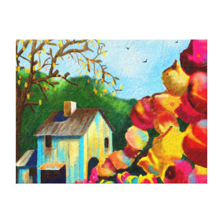 """""""Tulips by the Barn"""" Art on Canvas"""
