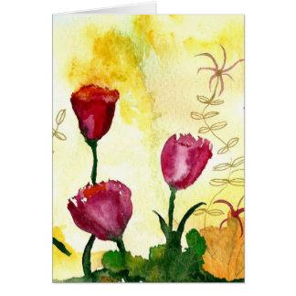 Tulips. Card