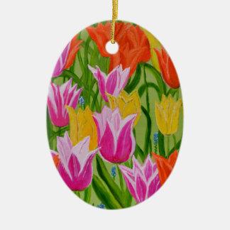 Tulips Christmas Ornament