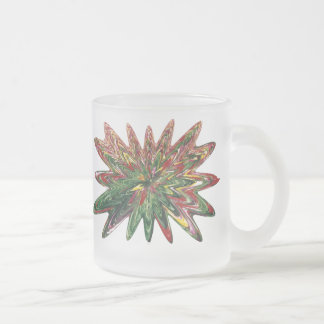 Tulips Collapsing Design Frosted Mug