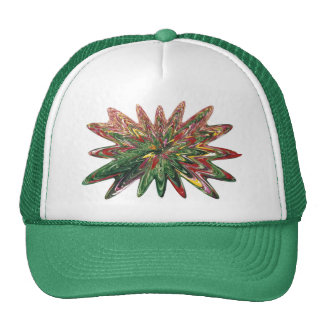 Tulips Collapsing Design Green Hat