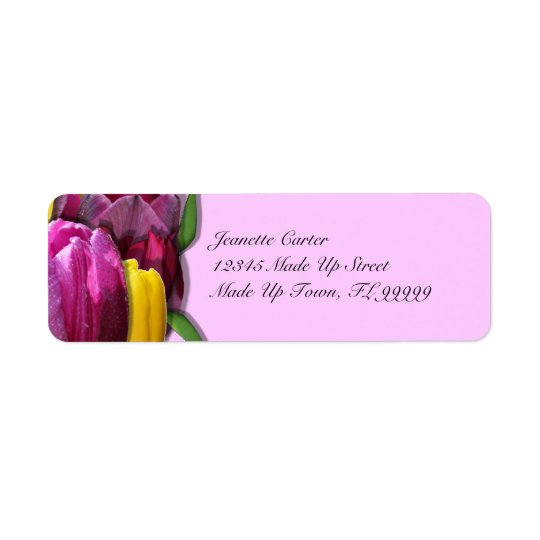 Tulips Custom Return Address Labels