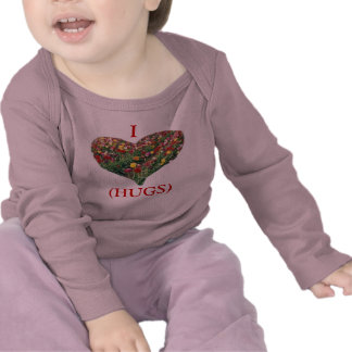 Tulips Customizable Pink Baby Long-Sleeved Shirt T Shirt