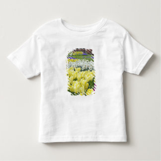 Tulips, daffodils, and Grape Hyacinth flowers, Toddler T-Shirt