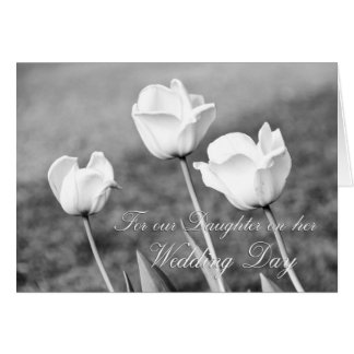 Tulips Daughter Wedding Congratulations Card