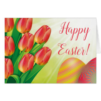 Tulips Easter Greeting Card