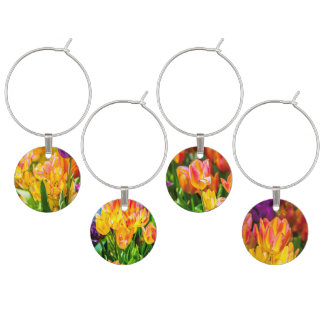 Tulips Enchanting 01 Wine Charms