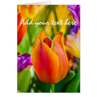 Tulips Enchanting Card