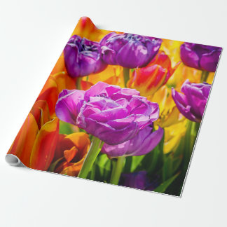 Tulips Enchanting colorful Wrapping Paper