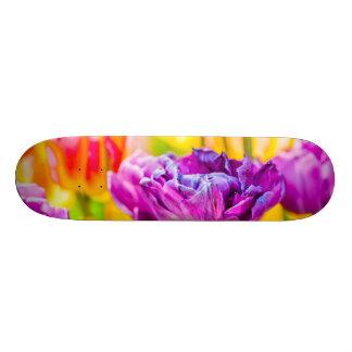 Tulips Enchanting Dark Pink 20.6 Cm Skateboard Deck
