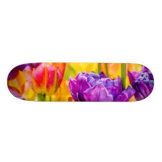 Tulips Enchanting Deep Pink Custom Skate Board