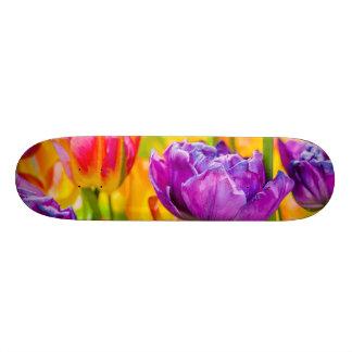Tulips Enchanting Deep Pink Custom Skateboard