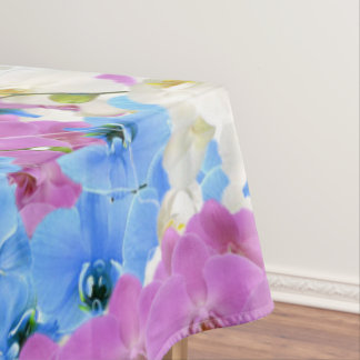 Tulips Floral Colorful Tablecloth