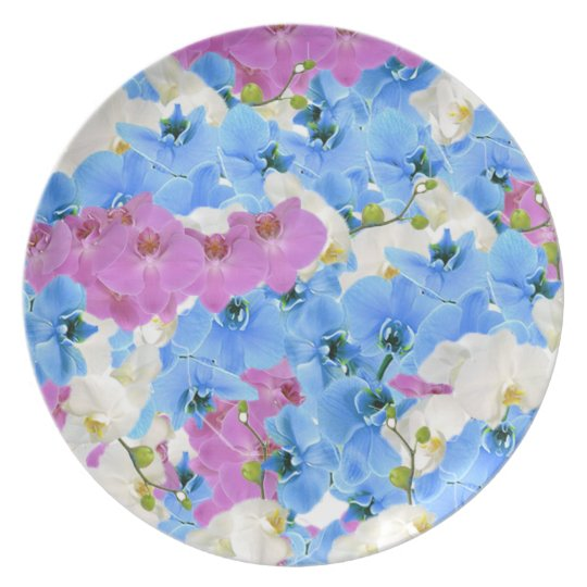 Tulips Floral Colourful  Melamine Plate