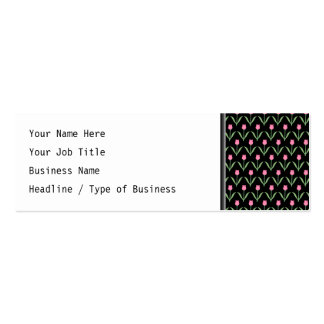 Tulips Floral Pattern Business Card Template
