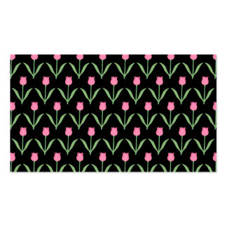 Tulips Floral Pattern Business Card