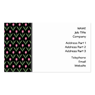 Tulips Floral Pattern Business Card Templates