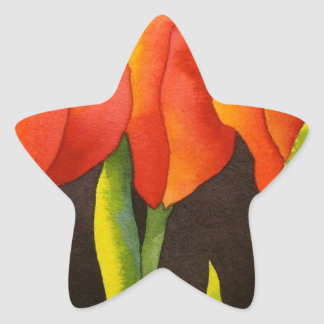 TULIPS FOR EVER STAR STICKER