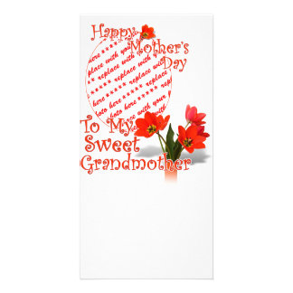 Tulips for Mother s Day For Grandmother PhotoFrame Photo Cards