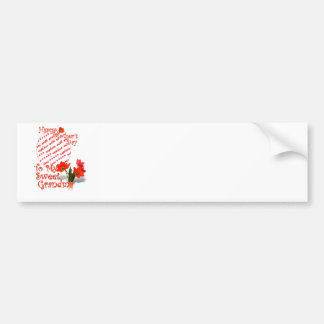 Tulips for Mother's Day For Grandma Photo Frame Bumper Sticker