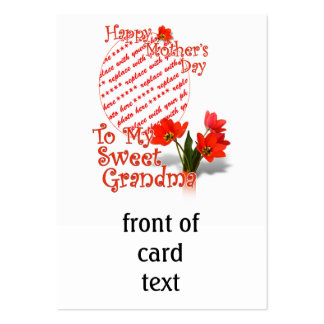 Tulips for Mother's Day For Grandma Photo Frame Large Business Cards (Pack Of 100)