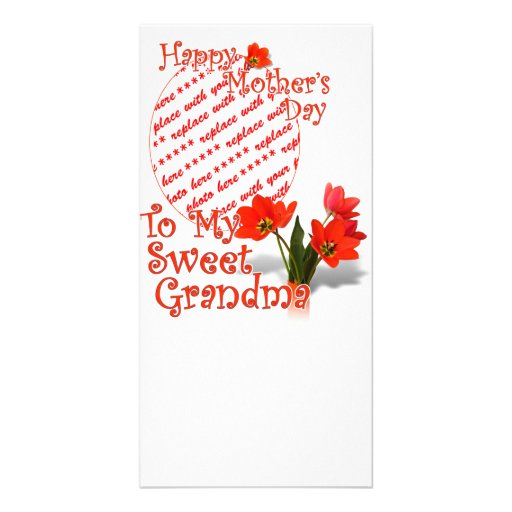 Tulips for Mother's Day For Grandma Photo Frame Photo Card