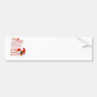 Tulips for Mother's Day For Grandmother PhotoFrame Bumper Sticker