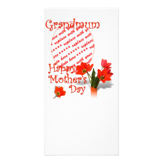 Tulips for Mother's Day For Grandmum PhotoFrame Picture Card
