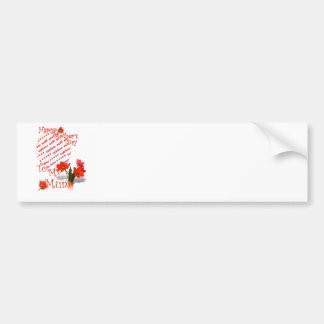 Tulips for Mother's Day For Mum Photo Frame Bumper Sticker