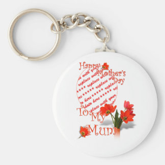 Tulips for Mother's Day For Mum Photo Frame Key Chain