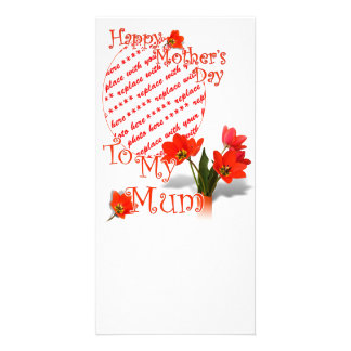 Tulips for Mother's Day For Mum Photo Frame Custom Photo Card