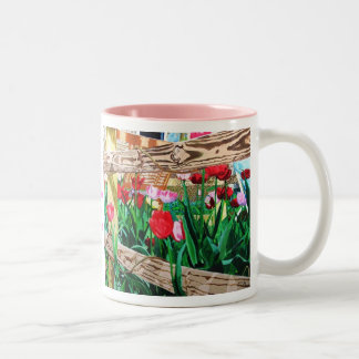 Tulips for You Two-Tone Coffee Mug