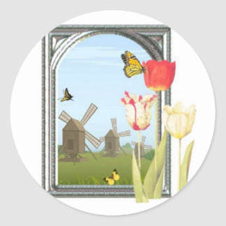 Tulips from Amsterdam Classic Round Sticker