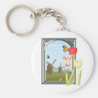 Tulips from Amsterdam Key Ring