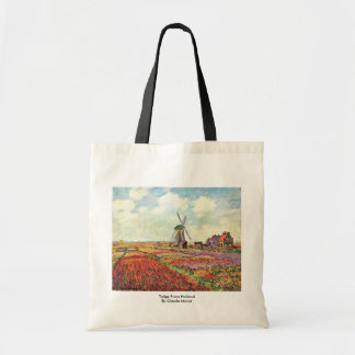 Tulips From Holland By Claude Monet Tote Bag