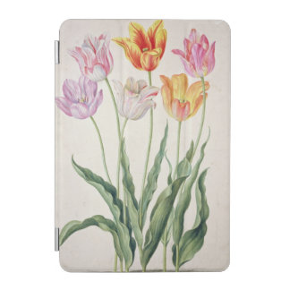 Tulips, from the 'Nassau Florilegium' (w/c on pape iPad Mini Cover