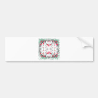 Tulips. Green and red Bumper Sticker