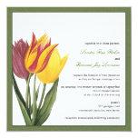 Tulips Green Border Wedding Invitation