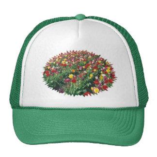 Tulips Green Rays Edge Hat