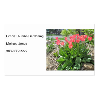 Tulips Green Thumbs Business Card