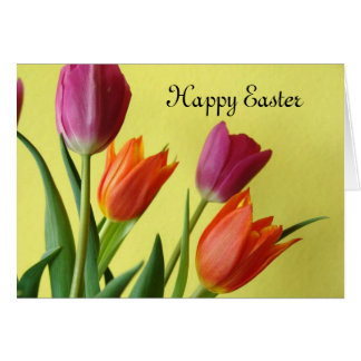 Tulips Happy Easter CARD