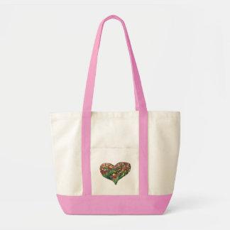 Tulips Heart Pink Impulse Tote Bag