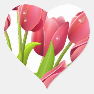 Tulips Heart Sticker